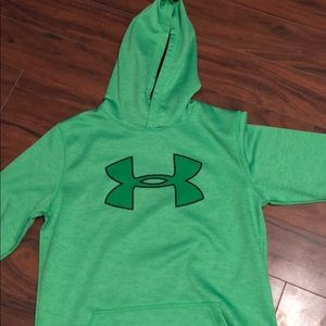 Under armour green hoodie youth xl